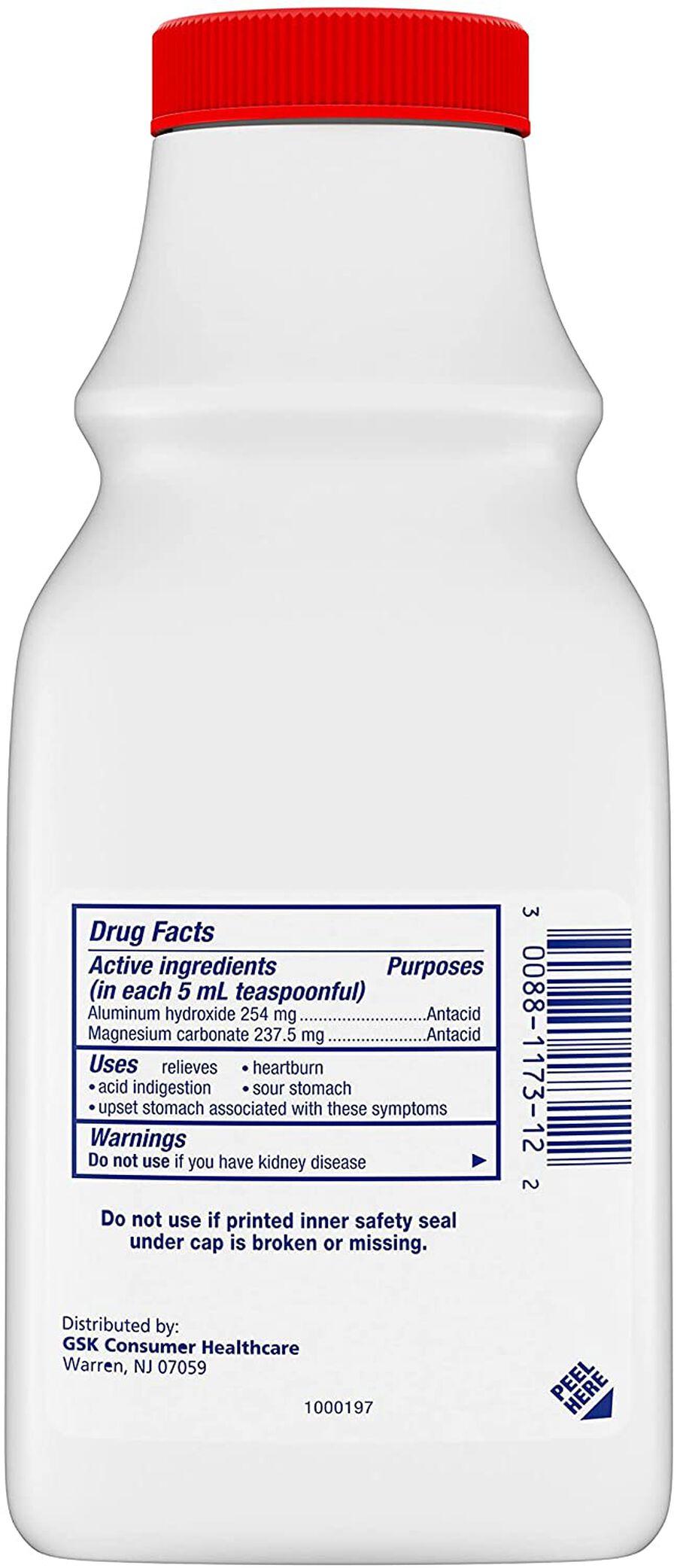 Gaviscon Extra Strength Liquid Antacid, Cool Mint Flavor, 12 fl oz, , large image number 1