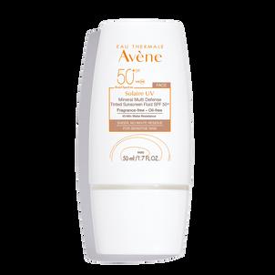 Avene Solaire UV Mineral Multi-Defense Sunscreen Fluid, Tinted, SPF 50+, 1.7 oz