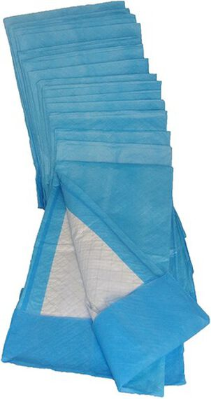 """Pharma Supply Disposable Quilted Fluff Underpad 23"""" x 36"""", Blue, Water-proof, Latex-free (45 g) (Pack of 50)"""