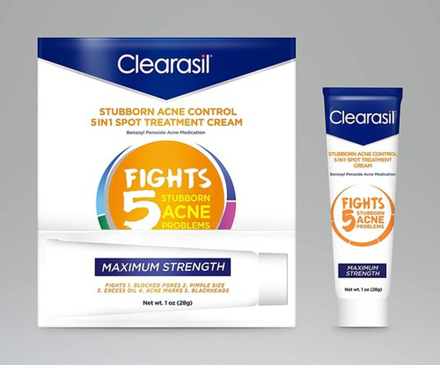 Clearasil Stubborn Acne Control 5in1 Spot Treatment Cream, 1oz., , large image number 3