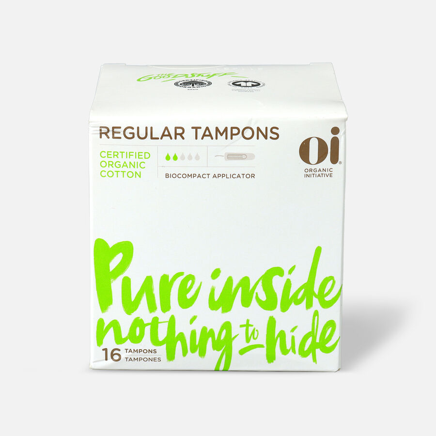 Oi Organic Cotton Tampons with BioCompact Applicator, , large image number 0