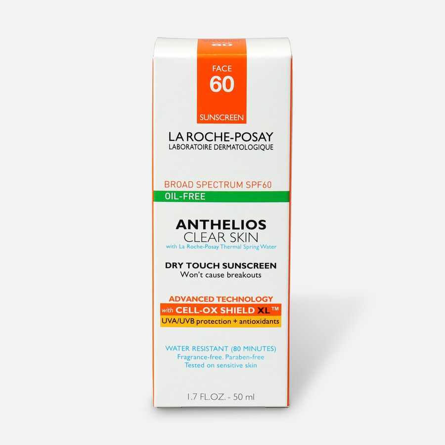 La Roche-Posay Anthelios Clear Skin, Dry Touch Face Sunscreen, Oil Free with SPF 60, 1.7 Fl. Oz., , large image number 1