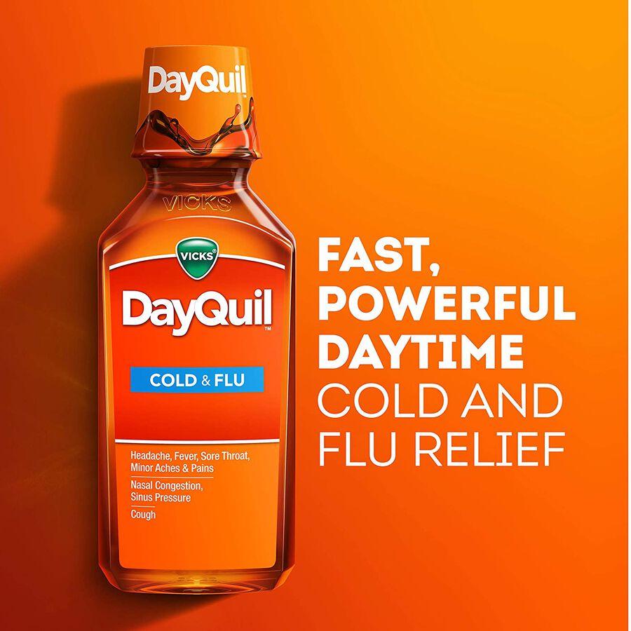 Vicks Dayquil Cold & Flu, 12 oz, , large image number 4
