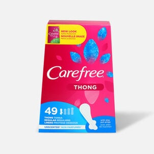 Carefree Thong Pantiliners, Unscented, 49ct