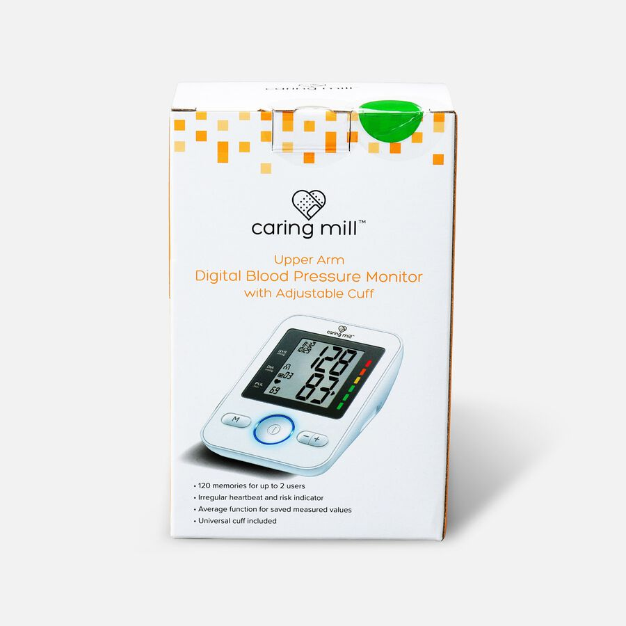 Caring Mill® Upper Arm Digital Blood Pressure Monitor with Adjustable Cuff, , large image number 0