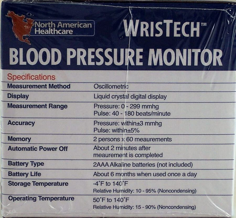 North American Wellness Blood Pressure Monitor with Case, , large image number 5