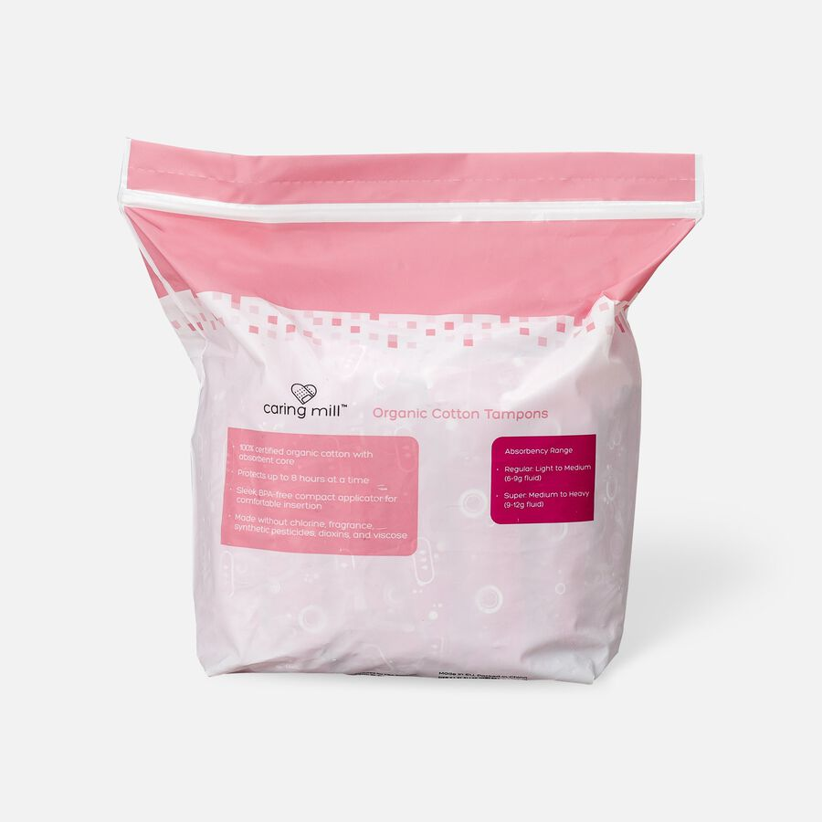 Caring Mill™ Organic Cotton Super Tampons, , large image number 1