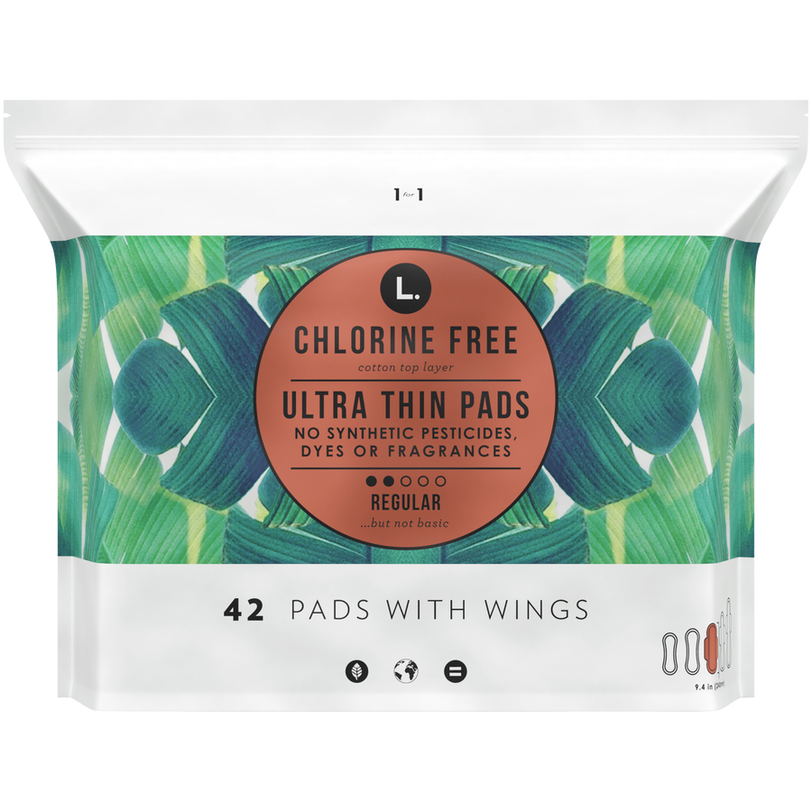 L. Chlorine Free Ultra Thin Pads, Organic Cotton, , large image number 0