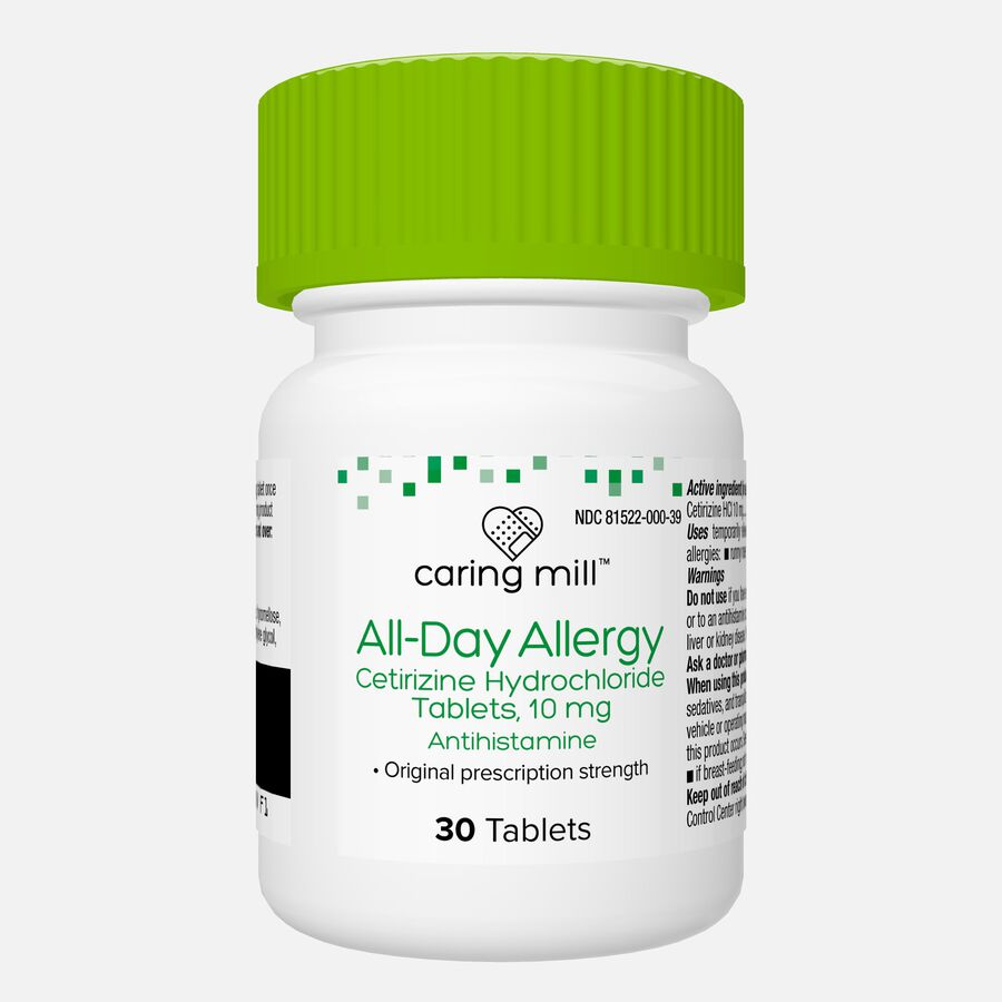 Caring Mill™ All-Day Allergy Cetirizine Hydrochloride Tablets, , large image number 1