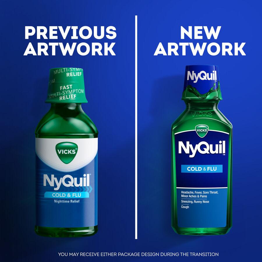 Vicks Nyquil Cold & Flu, Original, 12 oz, , large image number 2