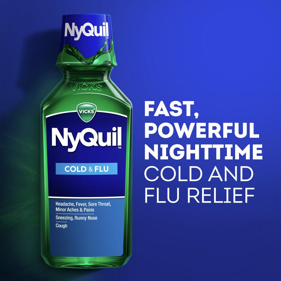 Vicks Nyquil Cold & Flu, Original, 12 oz, , large image number 4
