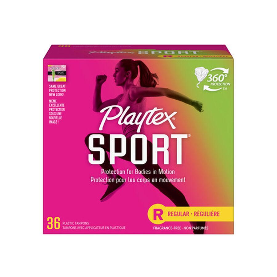 Playtex Sport Regular Tampons, Unscented, 36ct, , large image number 0