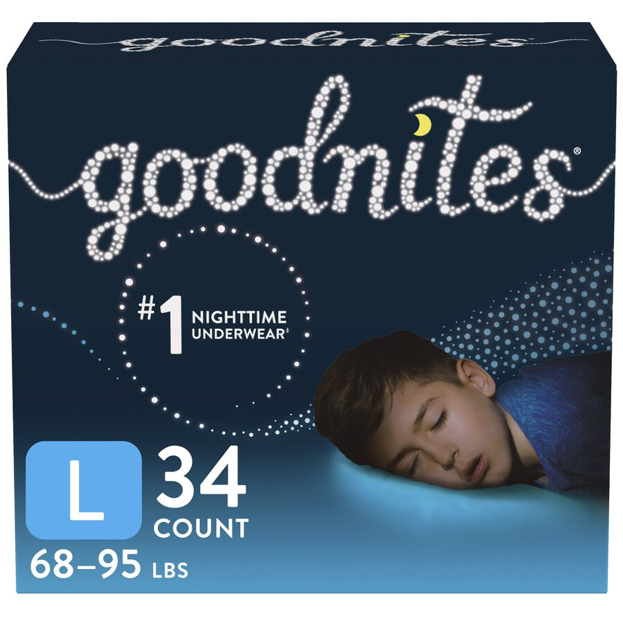 Goodnites Youth Pants for Boys, Giga Pack, , large image number 0