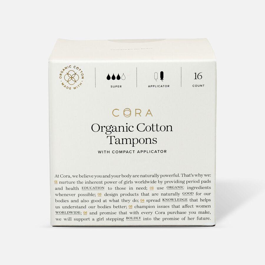 Cora Organic Cotton Applicator Tampons, , large image number 3