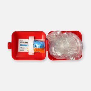 Genuine First Aid Portable CPR Mask, Hard Case