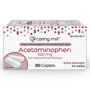 Caring Mill™ Acetaminophen Adult Pain Reliever/Fever Reducer Extra Strength Caplets