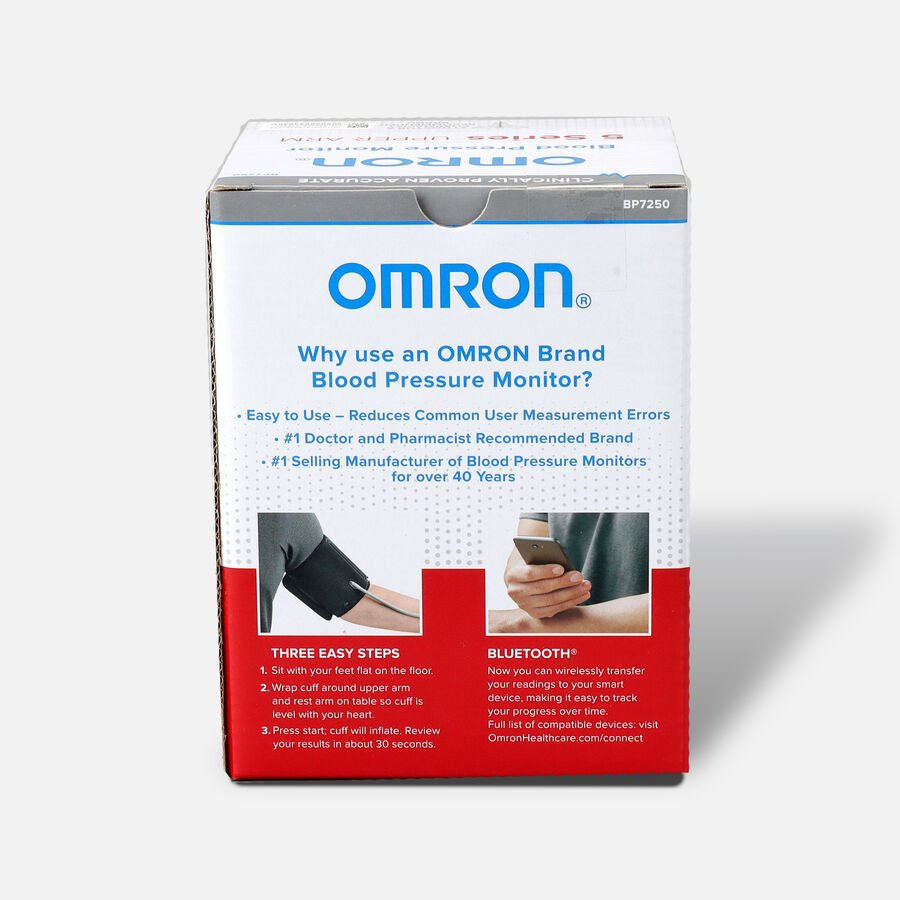 OMRON 5 Series Wireless Upper Arm Blood Pressure Monitor (BP7250), , large image number 1