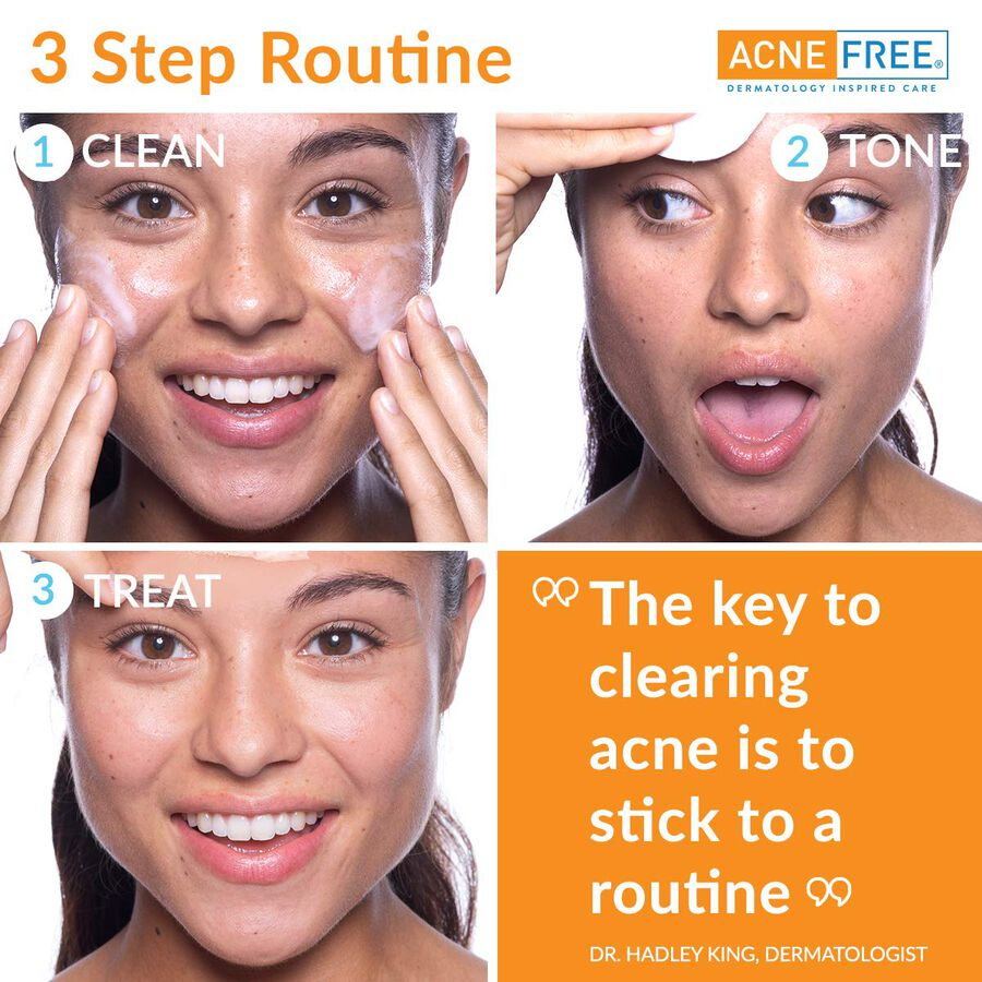 AcneFree Oil Free 24 HR Acne Clearing System, 3 Piece Kit, , large image number 5