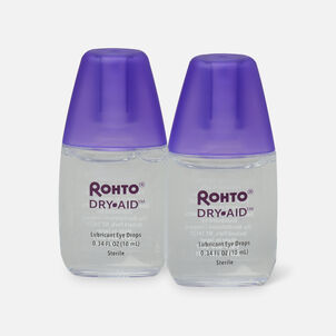 Rohto Dry Aid Lubricant, Twin Pack, 2 x 10 mL