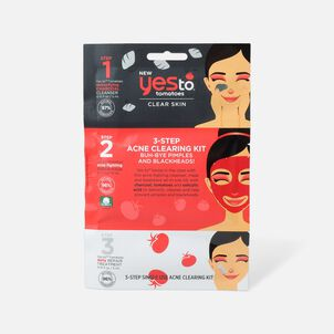Yes To Tomatoes Charcoal Detoxifying 3-Step Acne Clearing Kit