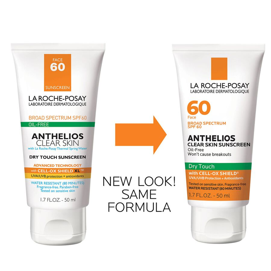 La Roche-Posay Anthelios Clear Skin, Dry Touch Face Sunscreen, Oil Free with SPF 60, 1.7 Fl. Oz., , large image number 3