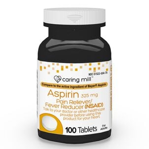 Caring Mill™ Aspirin Pain Reliever/ Fever Reducer (NSAID) Tablets, 100 ct
