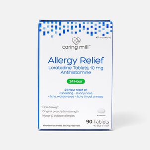 Caring Mill™ Allergy Relief Loratadine Tablets, 90 ct