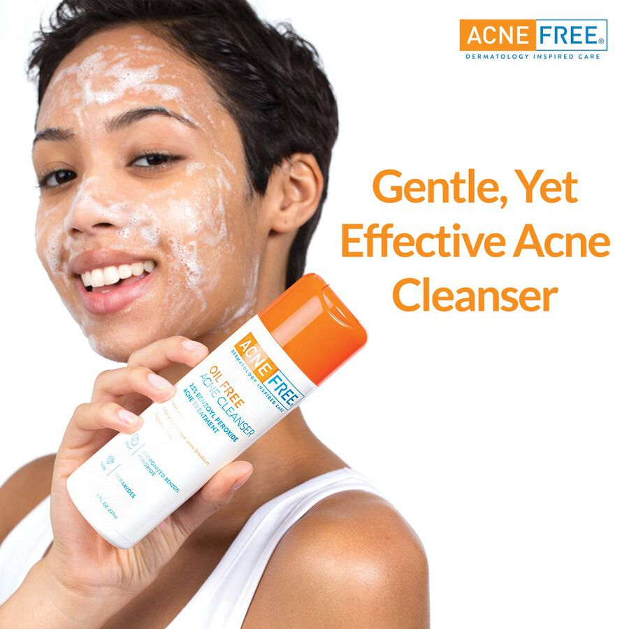 AcneFree Oil Free Facial Cleanser, 8 oz, , large image number 5