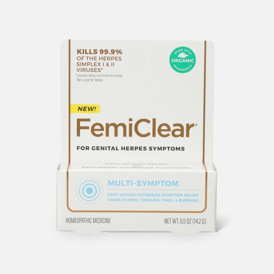 FemiClear Genital Herpes Ointment, Multi-Symptom, 0.5 oz, , large image number 0
