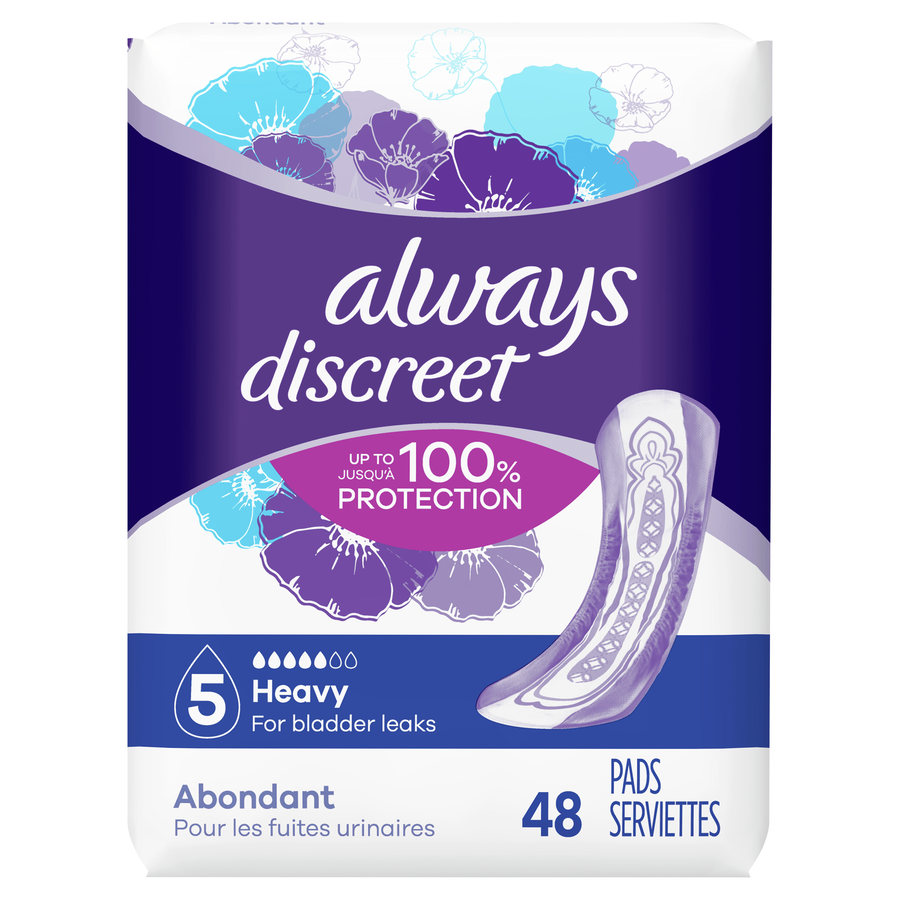 Always Discreet Heavy Incontinence Pads, 48 Count, , large image number 0