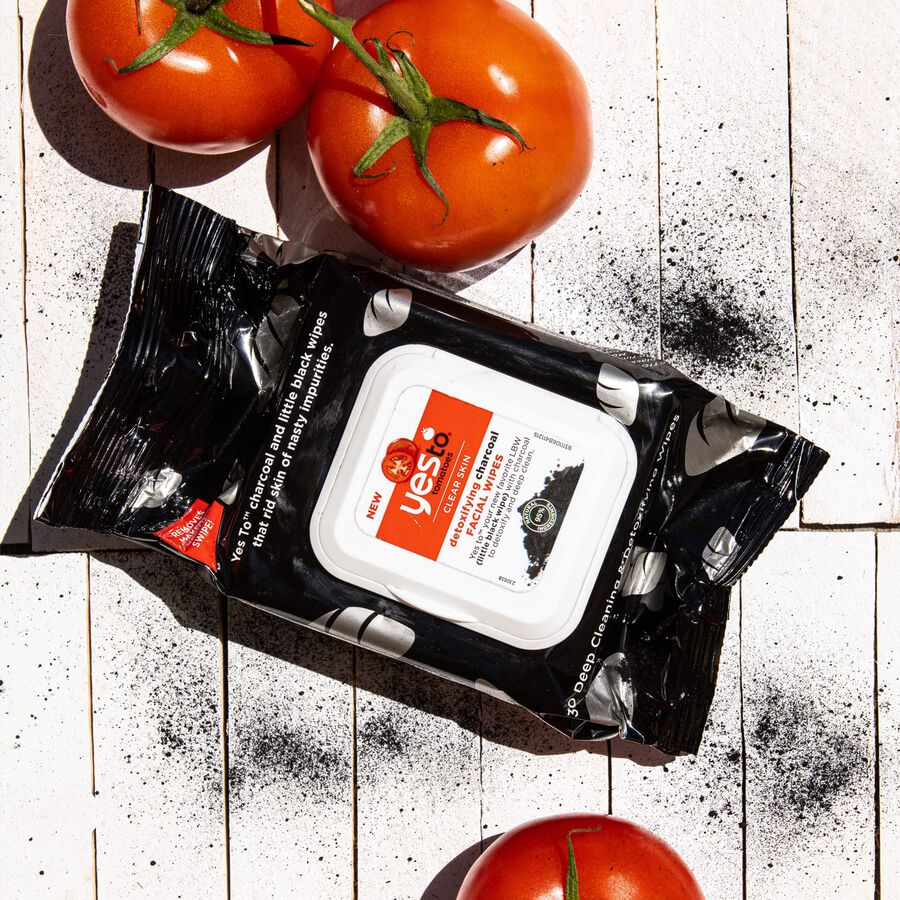 Yes To Tomatoes Charcoal Detoxifying Facial Wipes, 30 ct, , large image number 2