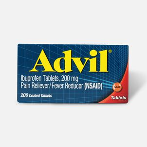 Advil Pain Reliever Fever Reducer Tablets, 200 ct