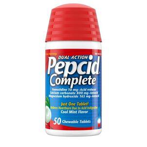 Pepcid Complete Chewable Tablets Mint, 50ct
