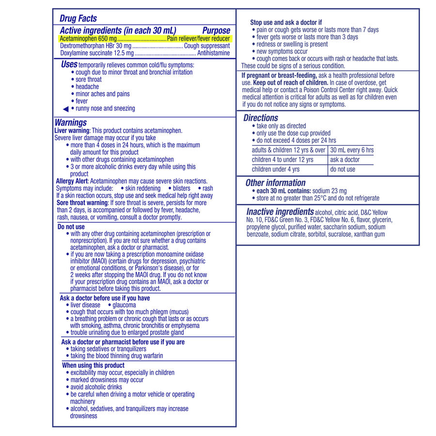 Vicks Nyquil Cold & Flu, Original, 12 oz, , large image number 1