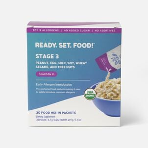 Ready, Set, Food! Early Allergen Introduction System for Babies 8+ Months, Stage 3