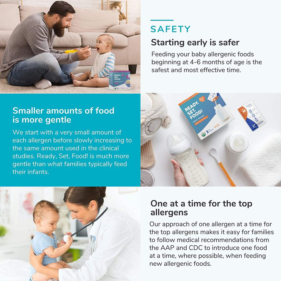 Ready, Set, Food! Early Allergen Introduction System for Babies 4+ Months, Stage 1, 30 day supply, , large image number 3