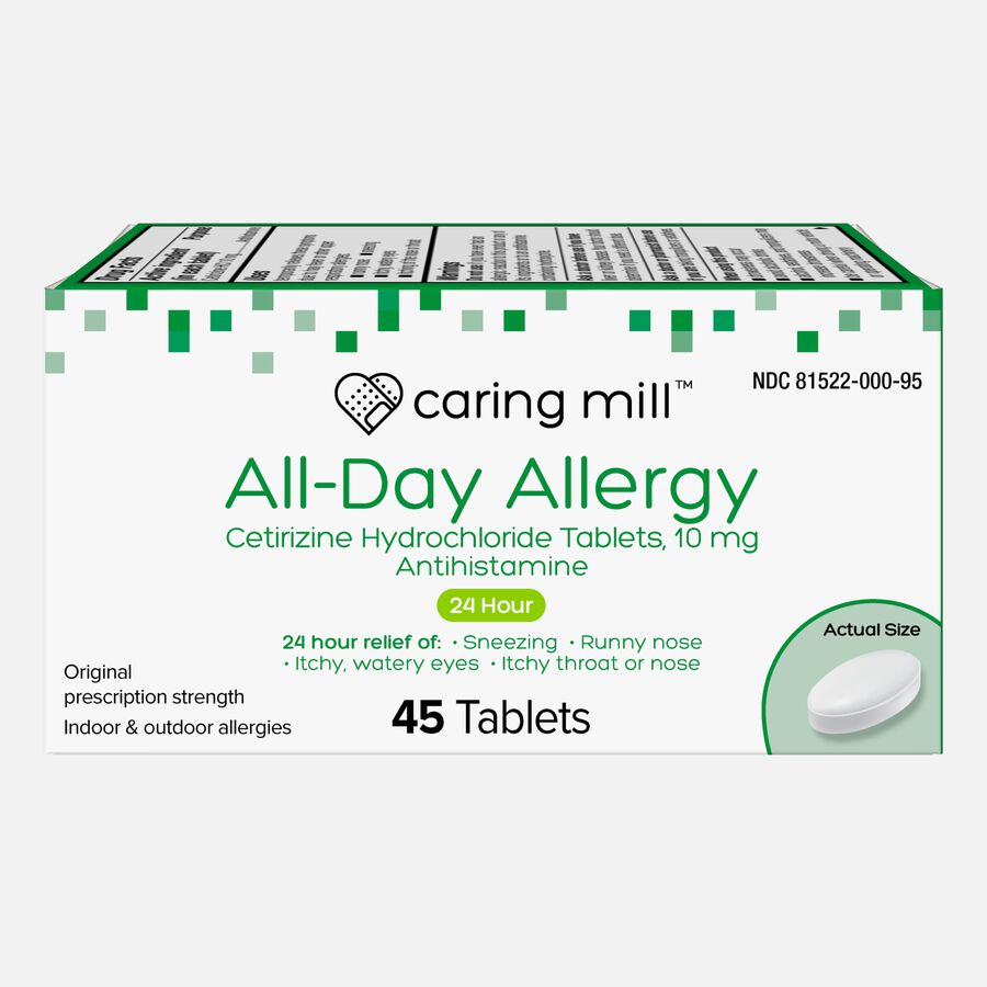 Caring Mill™ All-Day Allergy Cetirizine Hydrochloride Tablets, , large image number 3