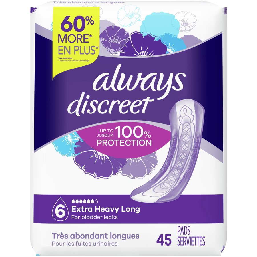Always Discreet Long Incontinence Pads, , large image number 2