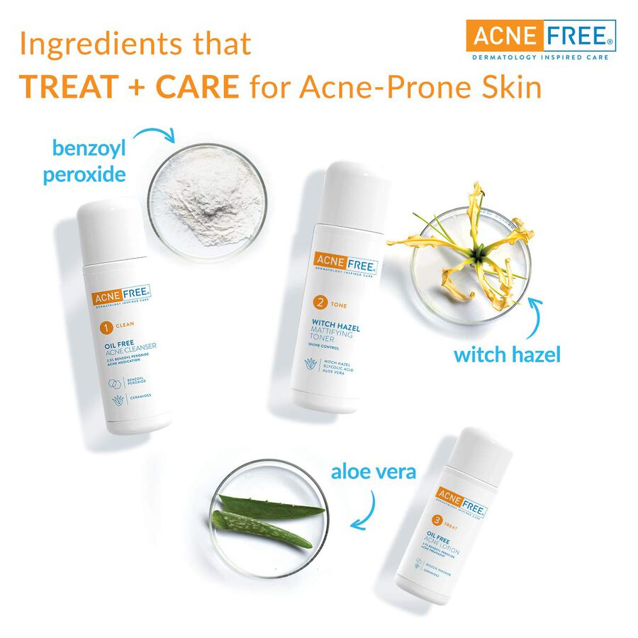 AcneFree Oil Free 24 HR Acne Clearing System, 3 Piece Kit, , large image number 3