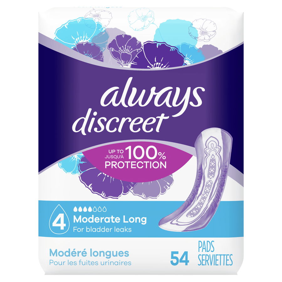 Always Discreet Long Incontinence Pads, , large image number 0
