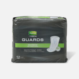 Depend Incontinence Guards for Men, Maximum Absorbency, 52 ea