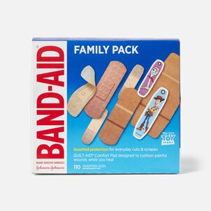 Band-Aid Family Pack Adhesive Bandages, 110 ct