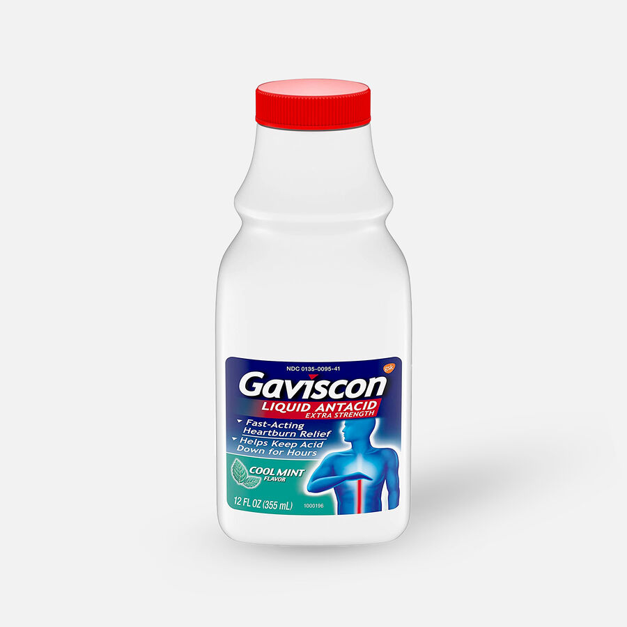 Gaviscon Extra Strength Liquid Antacid, Cool Mint Flavor, 12 fl oz, , large image number 0
