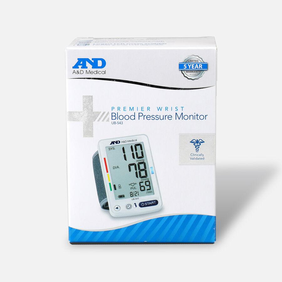 A&D Wrist Blood Pressure Monitor w/ Jumbo Screen, , large image number 0