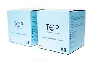 TOP the Organic Project Tampon Multipack with Plant Based Applicator, Regular, 32 ct