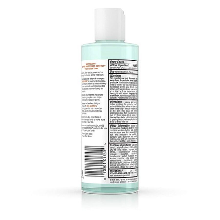 Neutrogena Oil-Free Acne Stress Control Triple-Action Toner, 8oz., , large image number 2