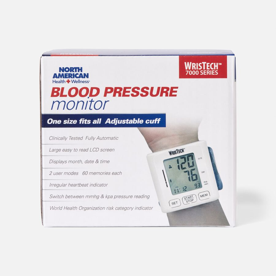 North American Wellness Blood Pressure Monitor with Case, , large image number 1