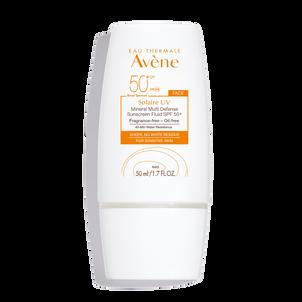 Avene Solaire UV Mineral Multi-Defense Sunscreen Fluid, SPF 50+, 1.7 oz