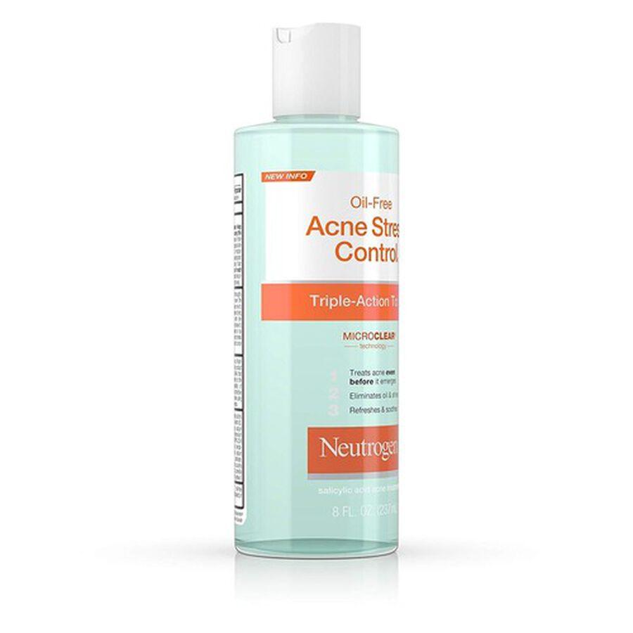 Neutrogena Oil-Free Acne Stress Control Triple-Action Toner, 8oz., , large image number 4