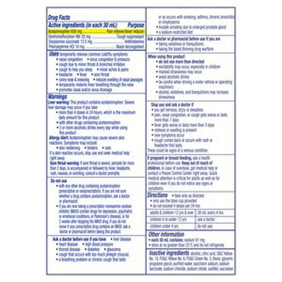 Vicks DayQuil Severe Liquid, 8 oz, , large image number 1
